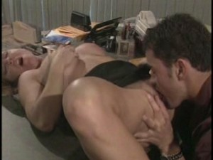 pussy lick in an office
