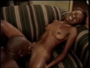 A black woman In delight