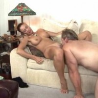 Enjoying licking pussy