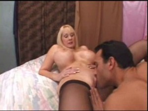 Lick pussy to woman with big tits