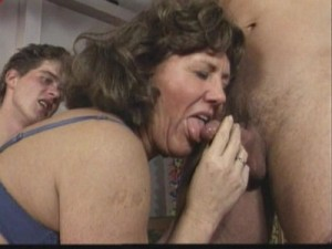 Three mature german women in gangbang